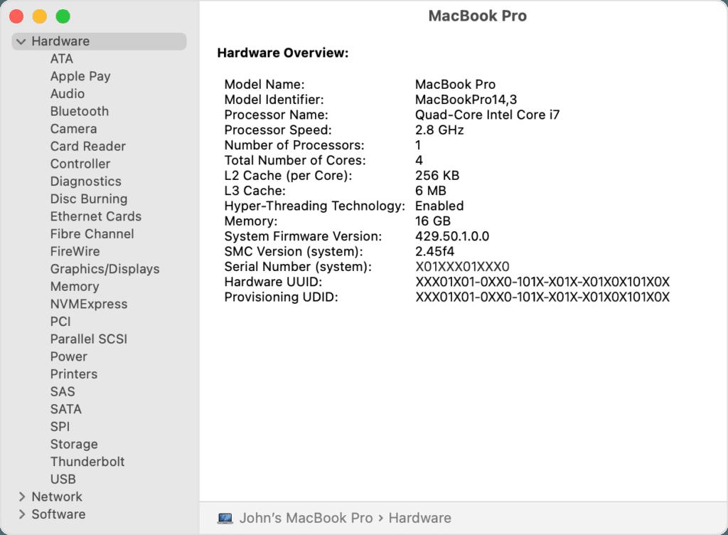 MacOS'ta teknik özellikler nasıl kontrol edilir