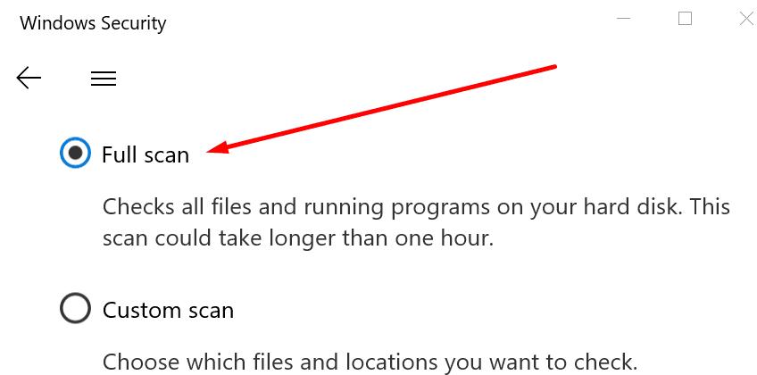 Windows güvenliği tam taraması