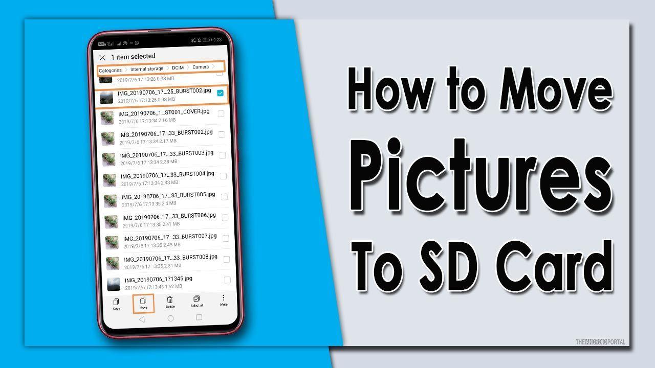 Resimleri SD Kartlara Taşıma