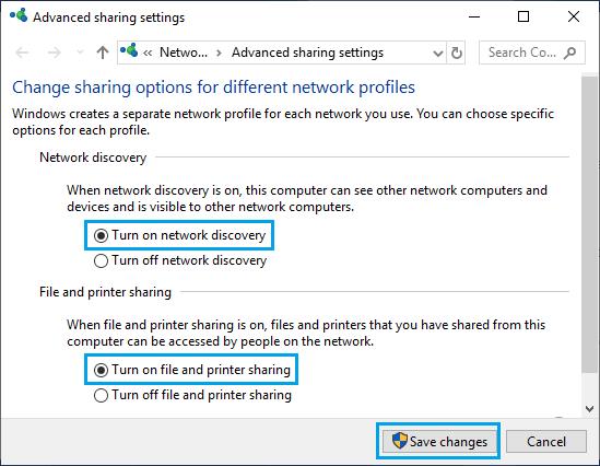 Windows PC'de Ağ Bulmayı AÇIN
