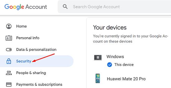 google-hesap-güvenliği-cihazlarınız